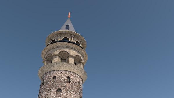 3D galata tower