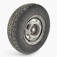 3D wheel tire vaz 2108 model