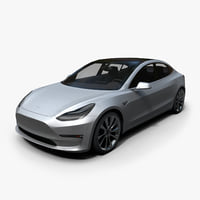 Tesla Model 3 Low Poly