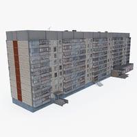 3D model east europe building