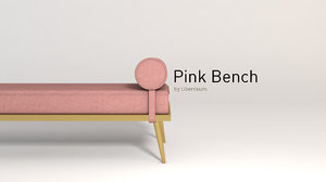 pink bench 3D model