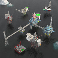 Standing Oil rig and platform pack