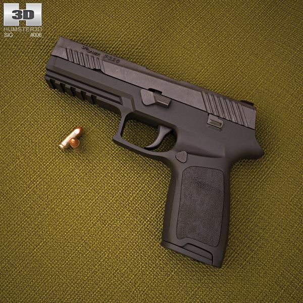 sig sauer p320 3D model
