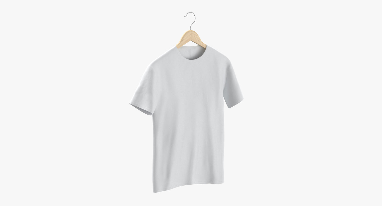 male crew neck hanging 3D