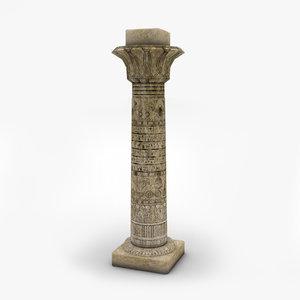3D model egyptian columns