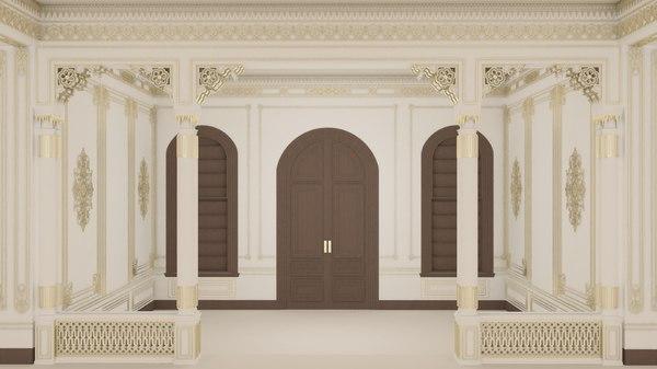 3D scene palace room model