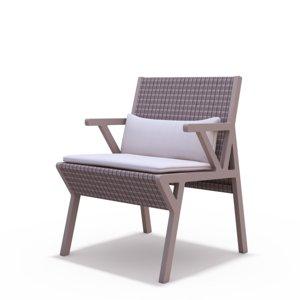 kettal vieques armchair 3D model