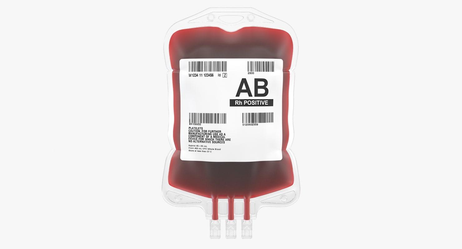 3D blood iv bags