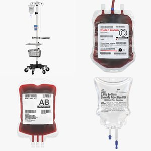 3D blood iv bags