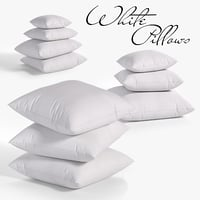 3D model white pillows 03 3