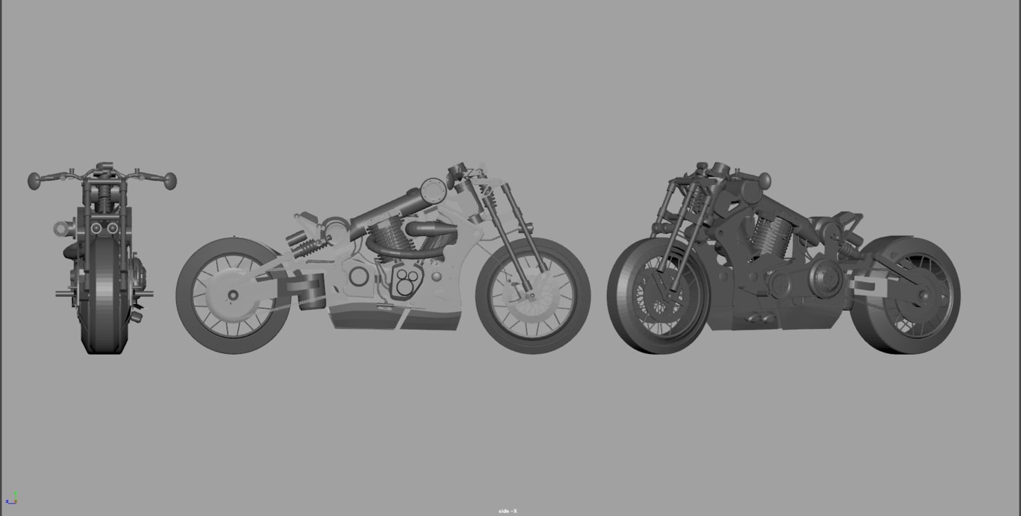 modeler motorcycle 3D model
