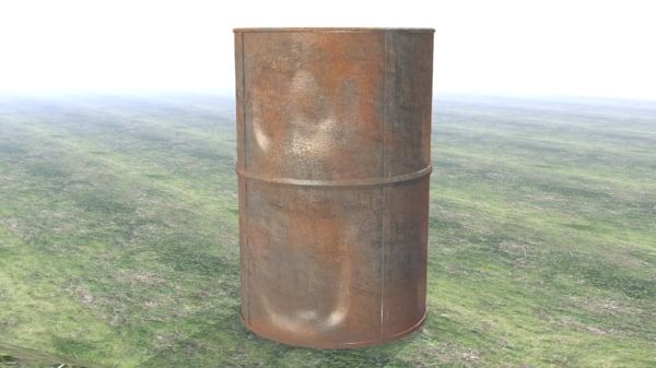 3D rusty barrel model