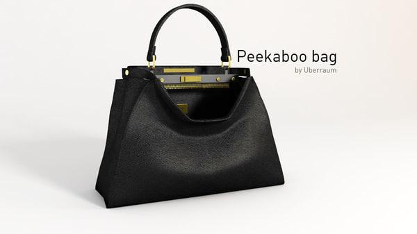 3D peekaboo bag