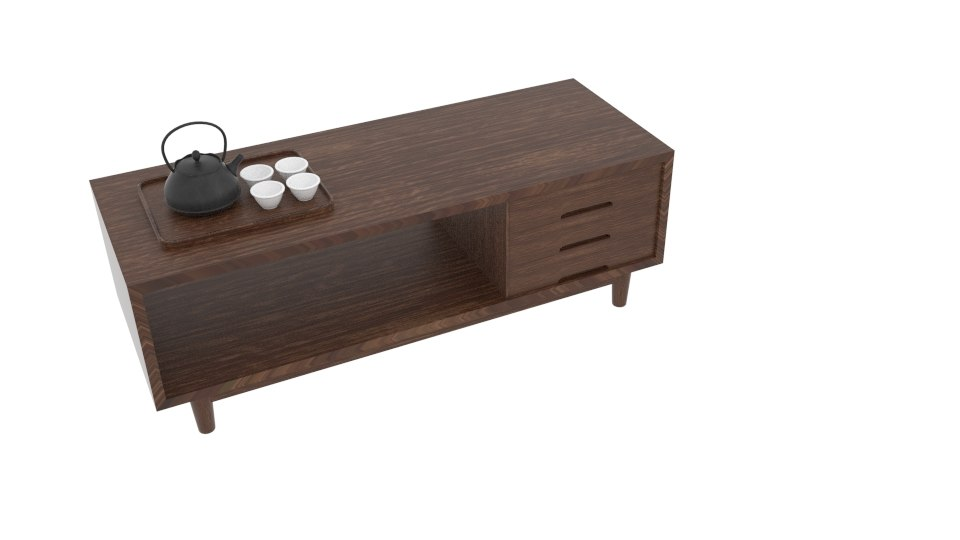 3D japanese art furniture triple model