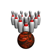 3D bowling model