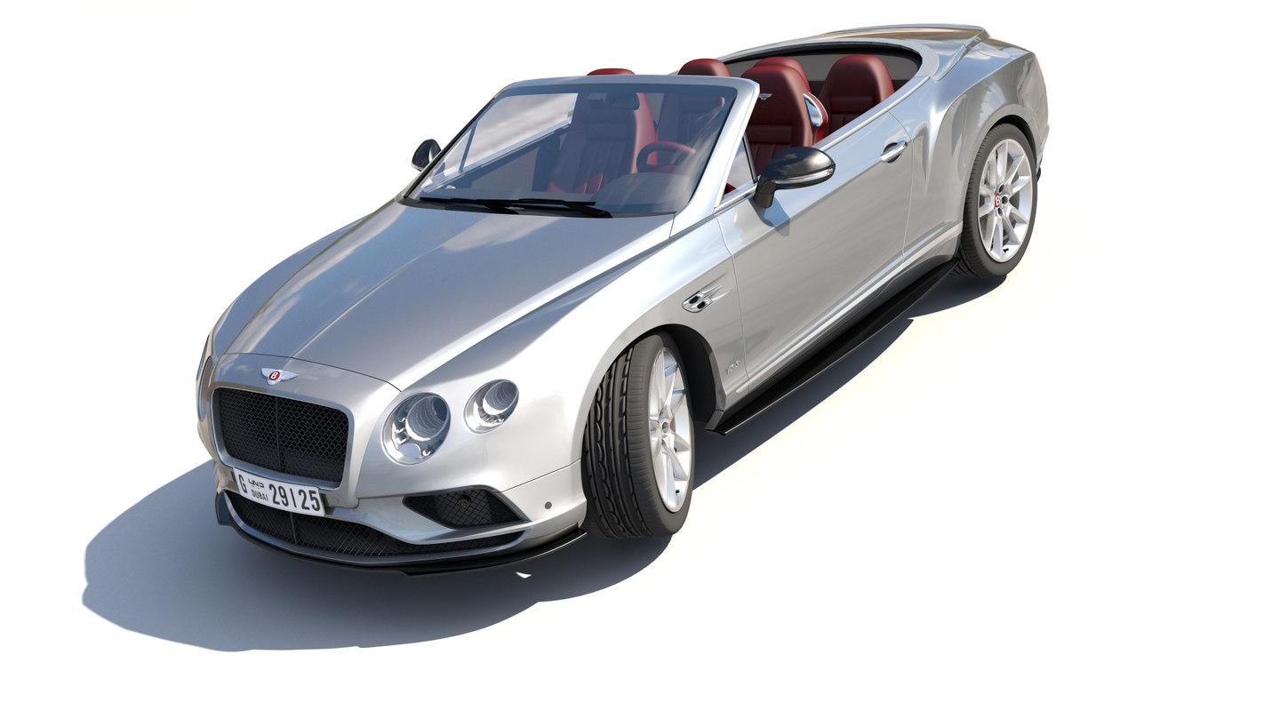 bentley continental gt v8 3D model