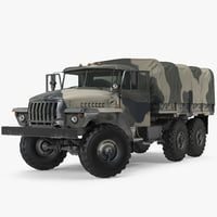 Military Truck URAL 4320 Russian Rigged
