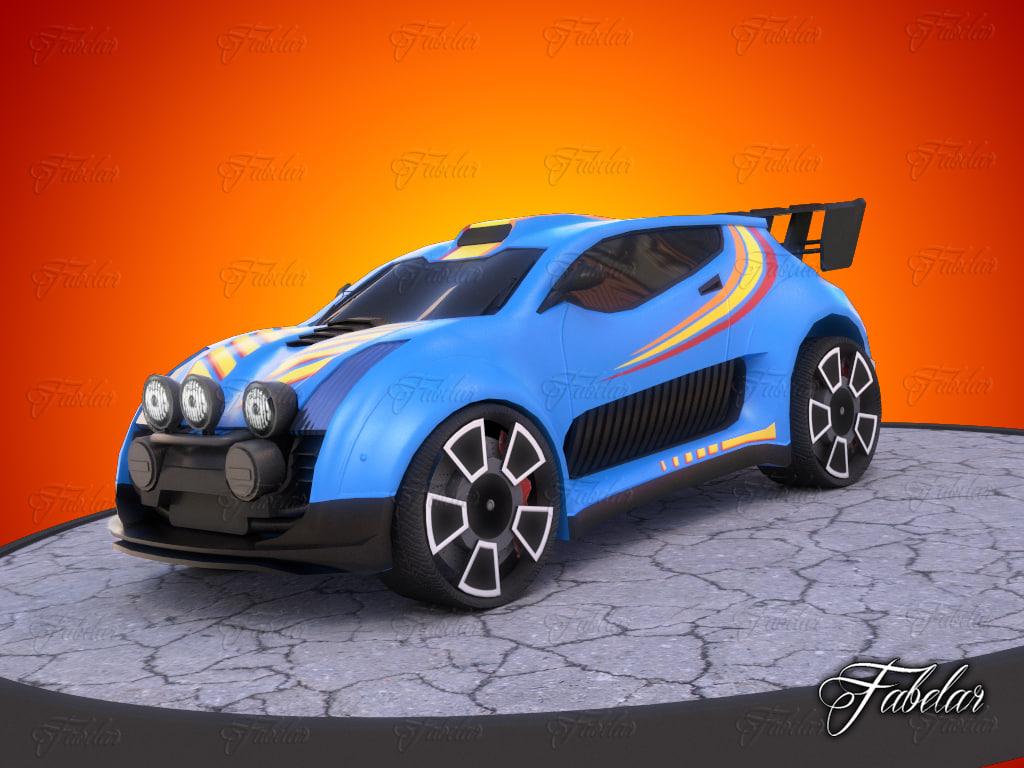 rally car model