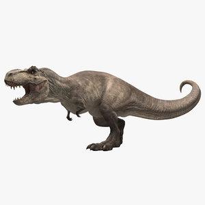t-rex rigging animation 3D model