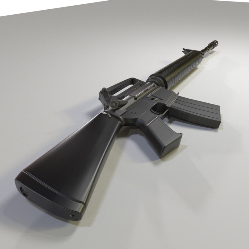 m4 gun 3D