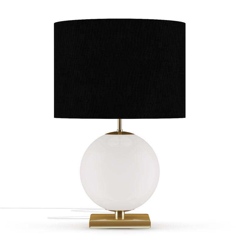 spherical desk lamp black 3D model
