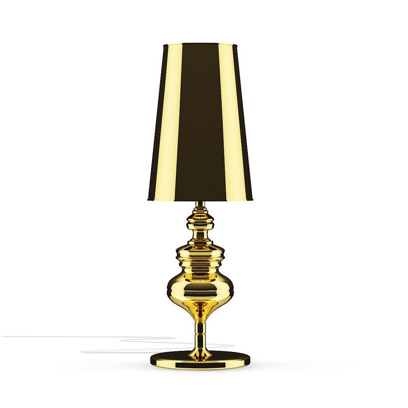 golden desk lamp 3D