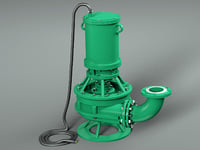 3D submersible pressure pump model