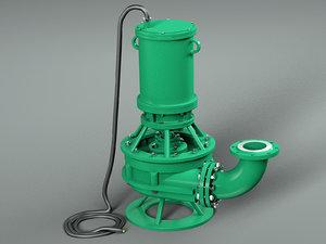 3D submersible pressure pump model