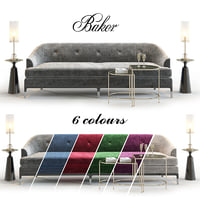 bakers carnelian sofa 3D