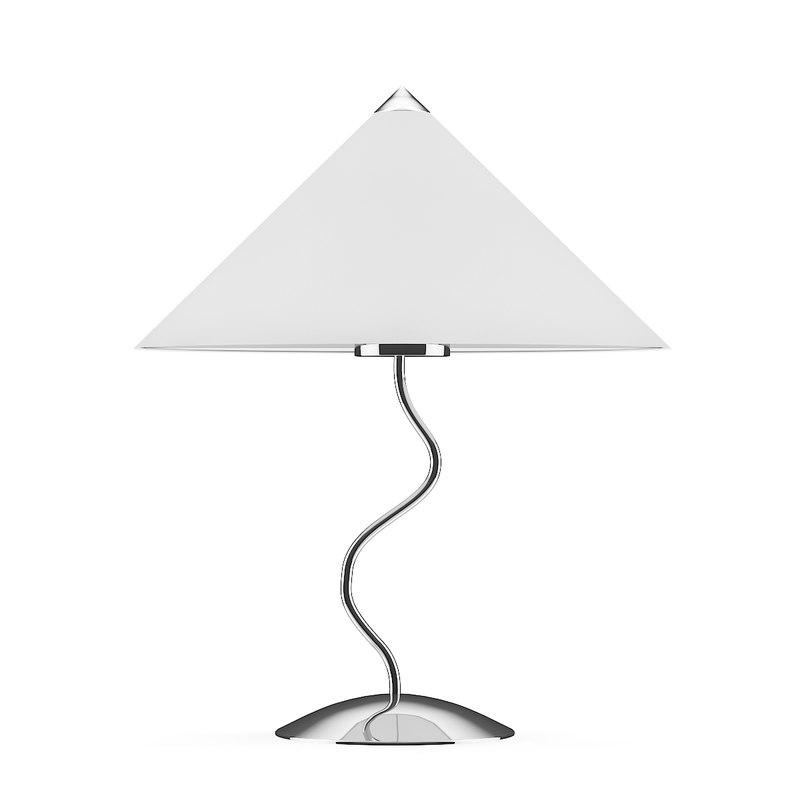 chromed desk lamp 3D model
