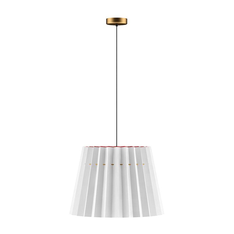 3D model ceiling lamp red white