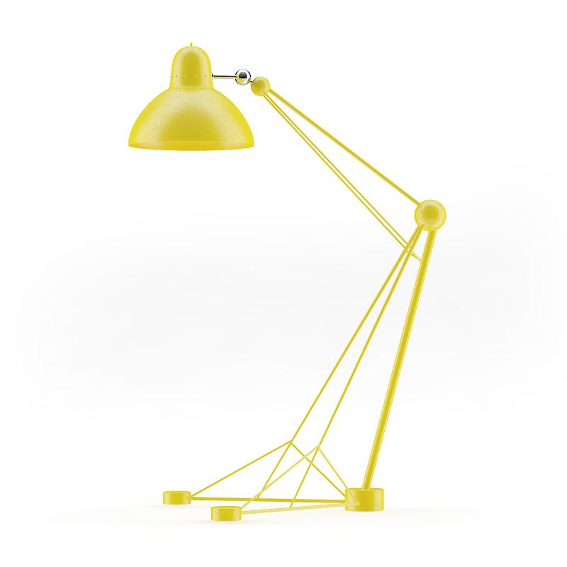 large yellow floor lamp 3D model