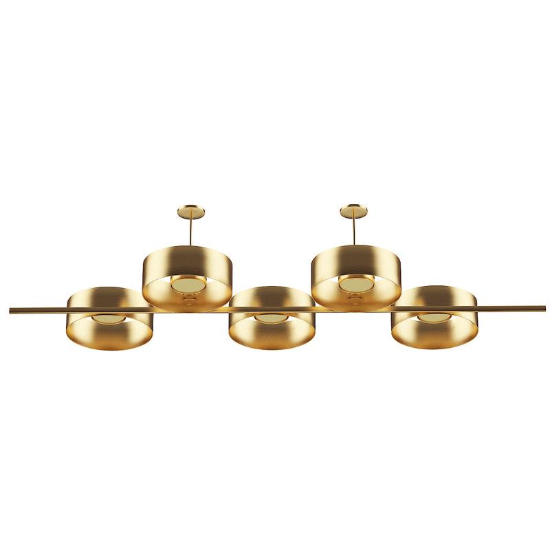 golden metal ceiling lamp 3D model