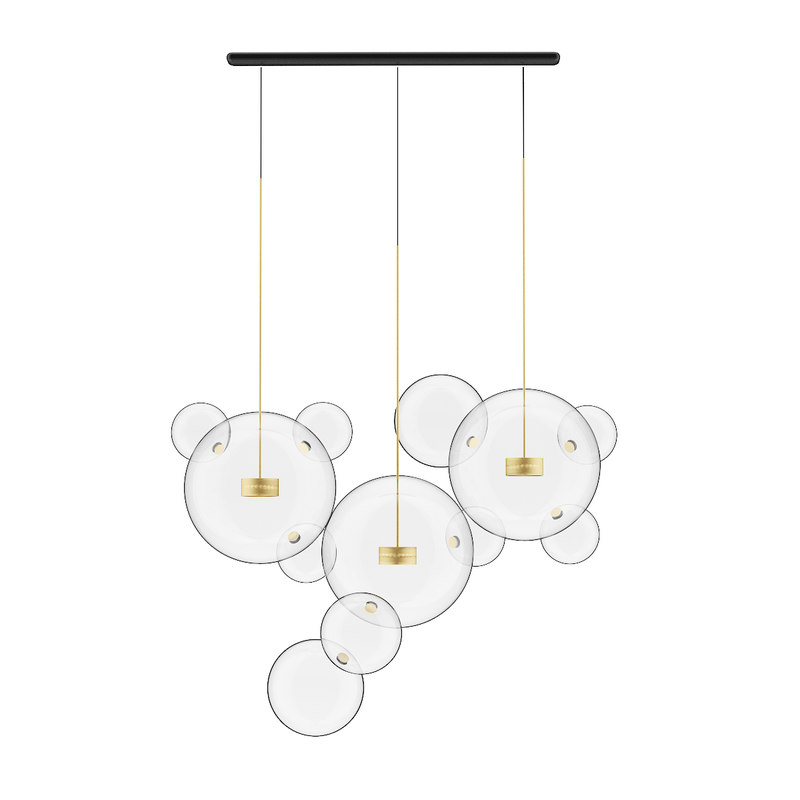 3D ceiling lamp glass shades model