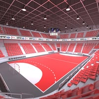 3D model handball arena ball