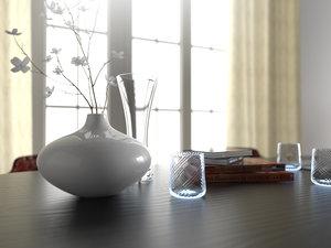 3D wiener wohnzimmer furniture set