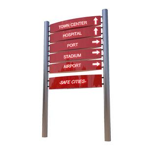 sign signboard 3D model