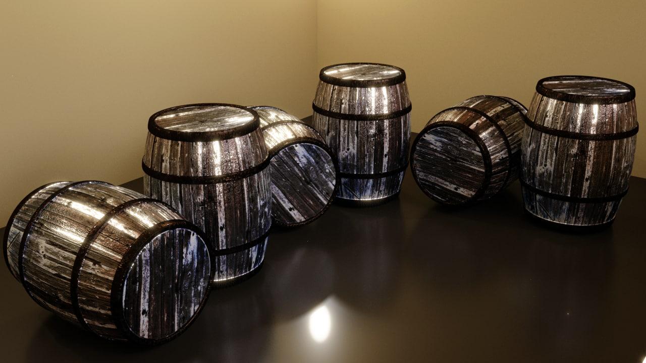 3D barrel fantasy model