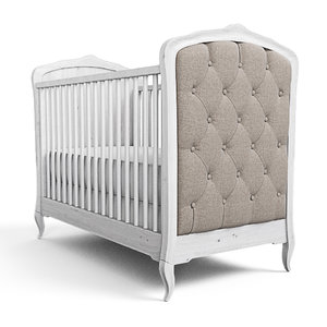 3D model baby crib design