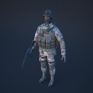 soldier 10000 3D model
