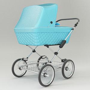 3D vintage blue color design