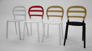 3D model modern chair miss bibi