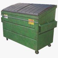 3D garbage dumpster