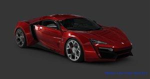 wmotors lykan hyper sport 3D model