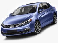 3D generic compact sedan model