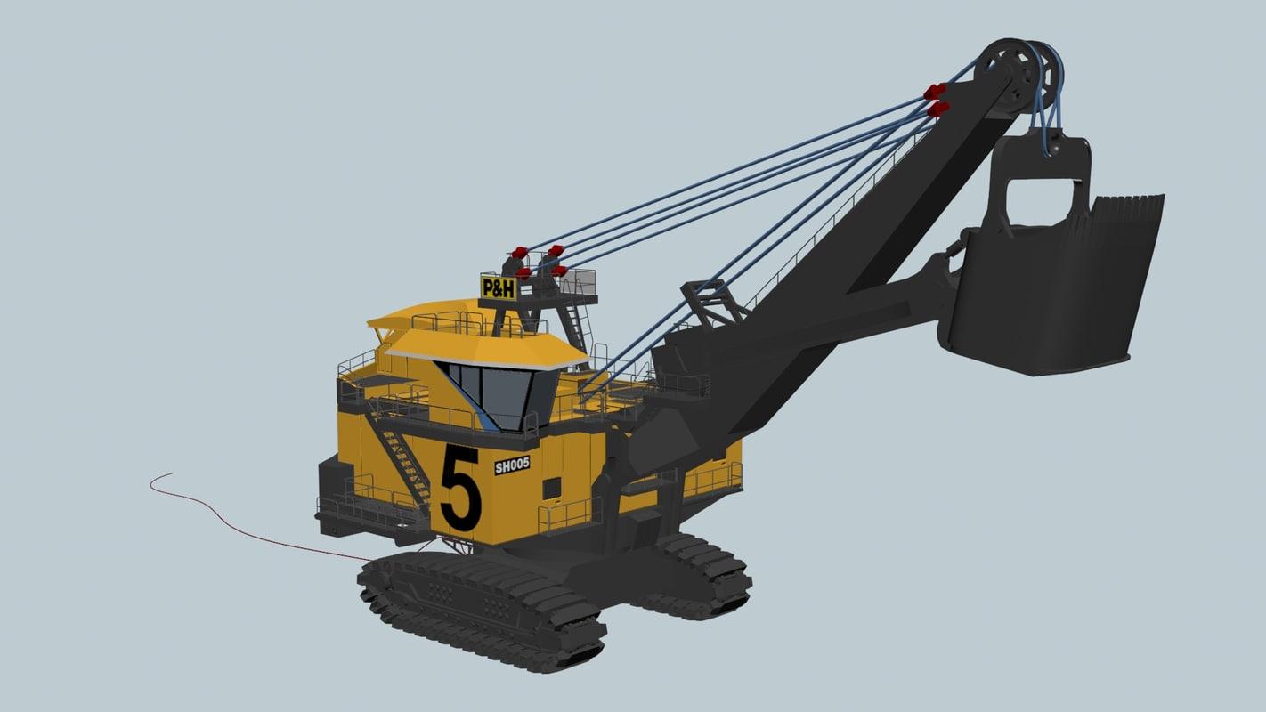 rigged shovel 3D model