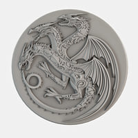 3D dragon cnc decoration model