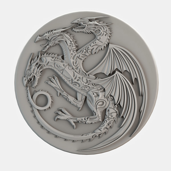 3D dragon cnc decoration model