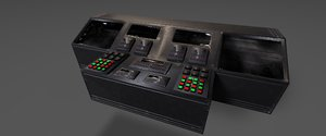 3D damaged command console