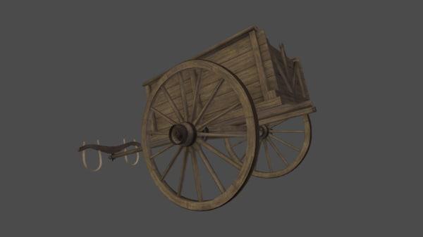 bulllok cart 3D model